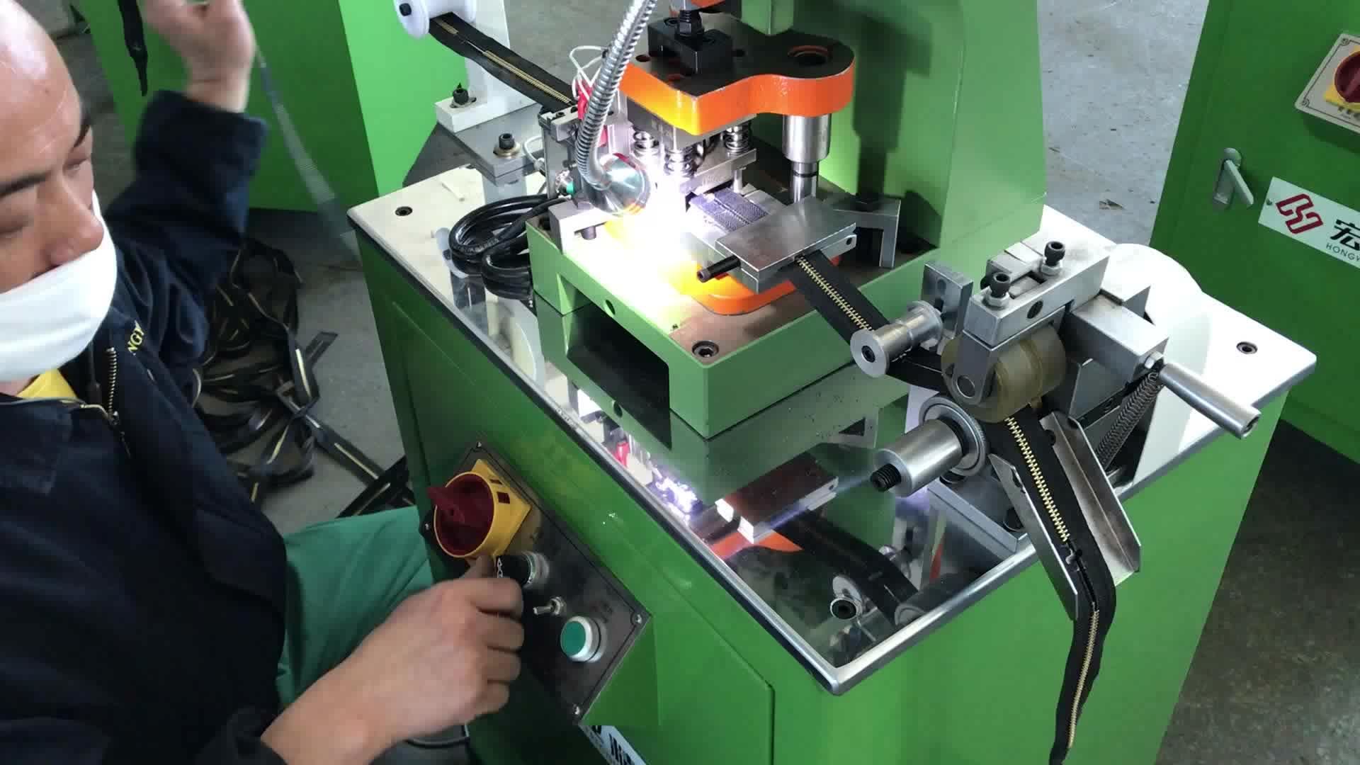 O/E HY-103J машина для перфорации отверстий для металлической молнии 3 #