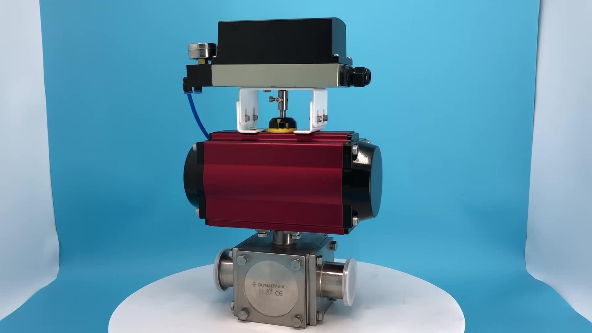 DONJOY Stainless steel sanitary Horizontal Pneumatic actuators