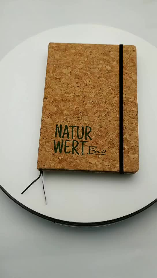 New Arrival Recyclable Cork Cover Notebook OEM Promotional Cork Notebook With Elastic Band