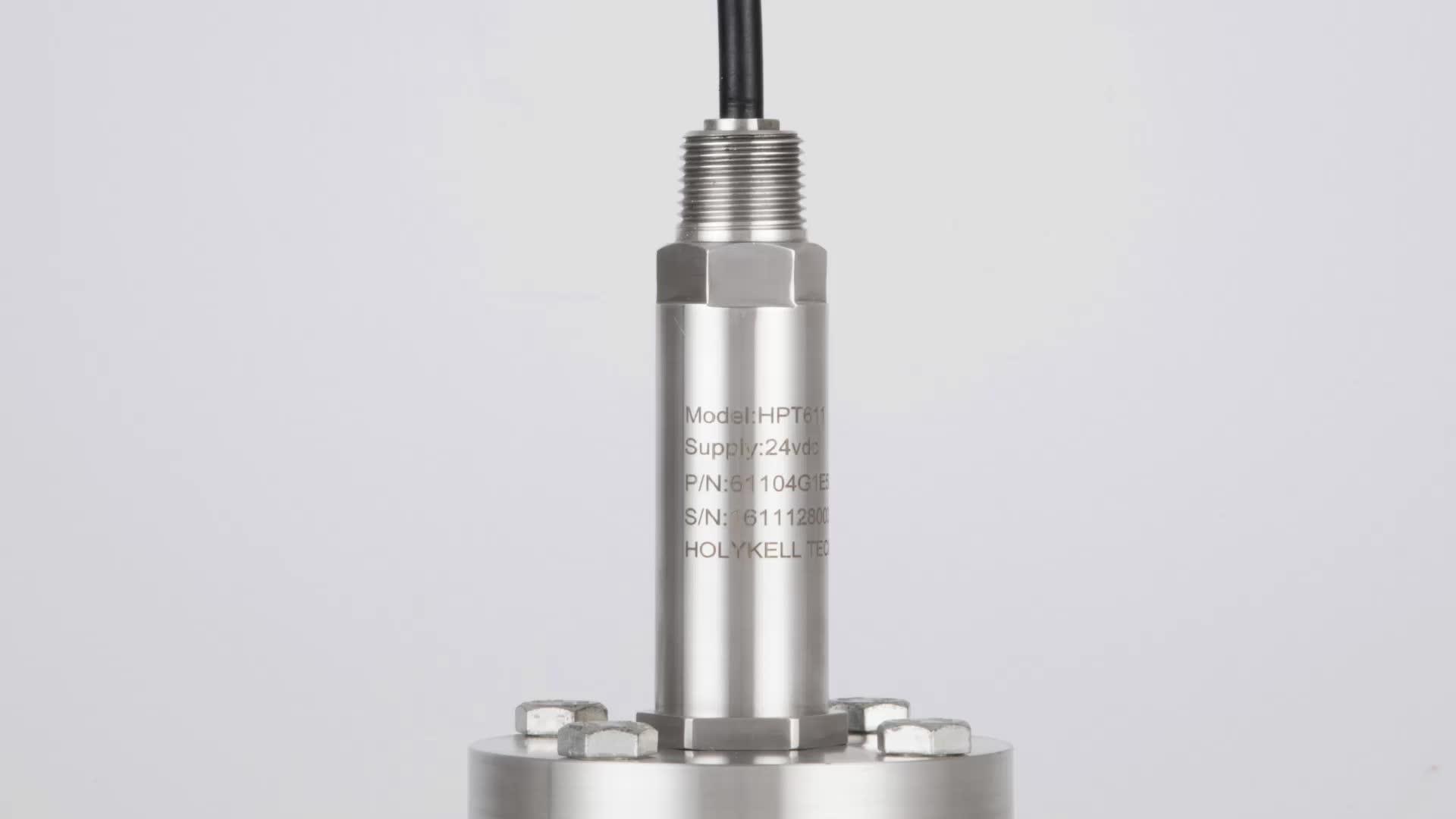 Holykell factory Submersible Pressure Level Transducer, Flange Level Sensor