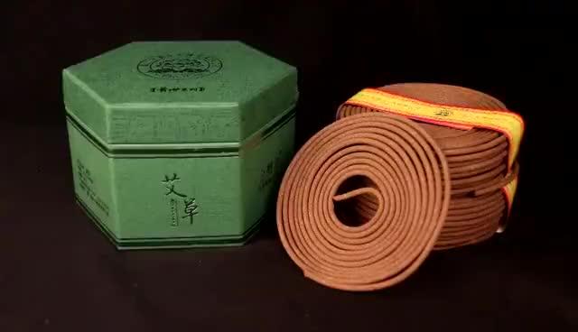 2 horas Asiático wormwood bobina de incenso para uso fragrância