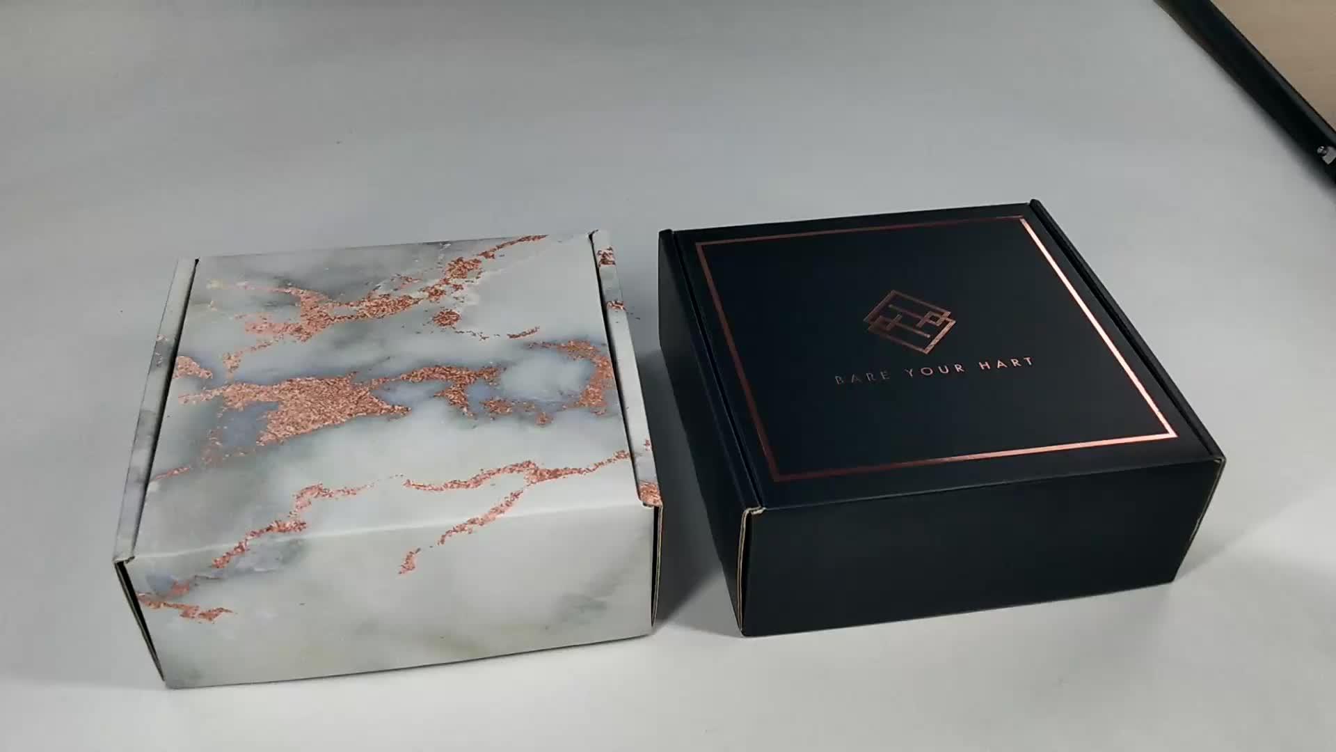 Professional Custom Printed Logo Folding Corrugated Paper Cosmetic Packaging Box