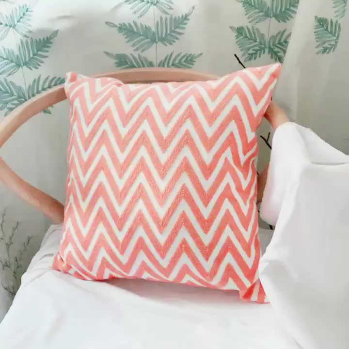 100% cotton pillow cover embroidery cushion cover wholesale for home decor
