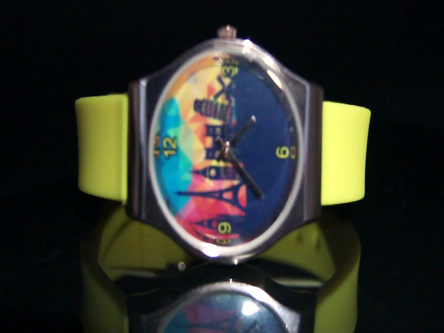 China Wholesale Colorful Custom Logo Silicone Strap Quartz Wristwatches For Girls