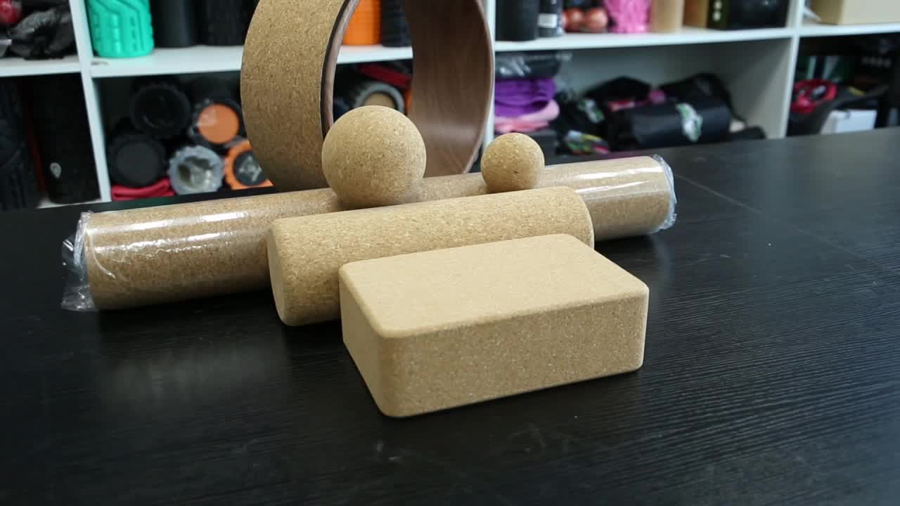 100% NATURAL CORK Foam Roller for Physical Therapy
