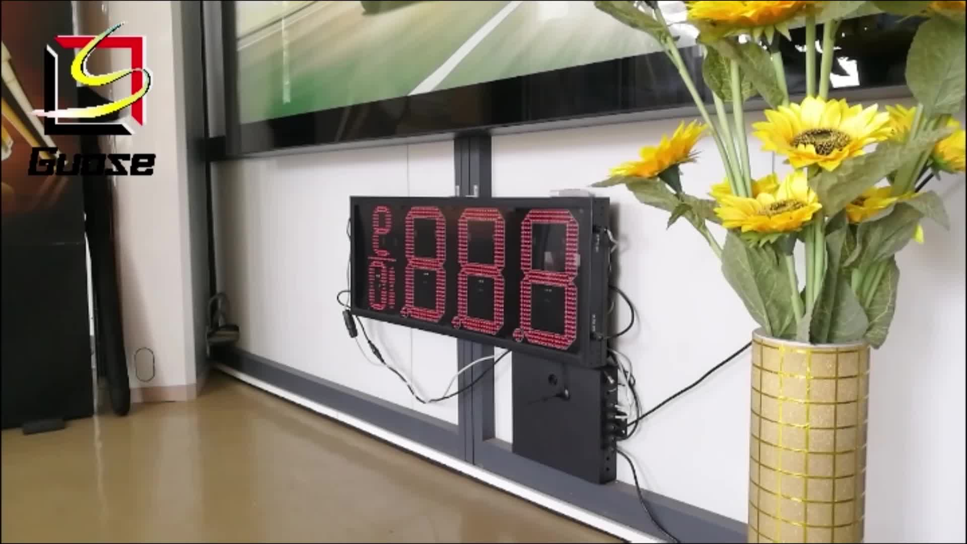 Waterproof LED gas station price sign
