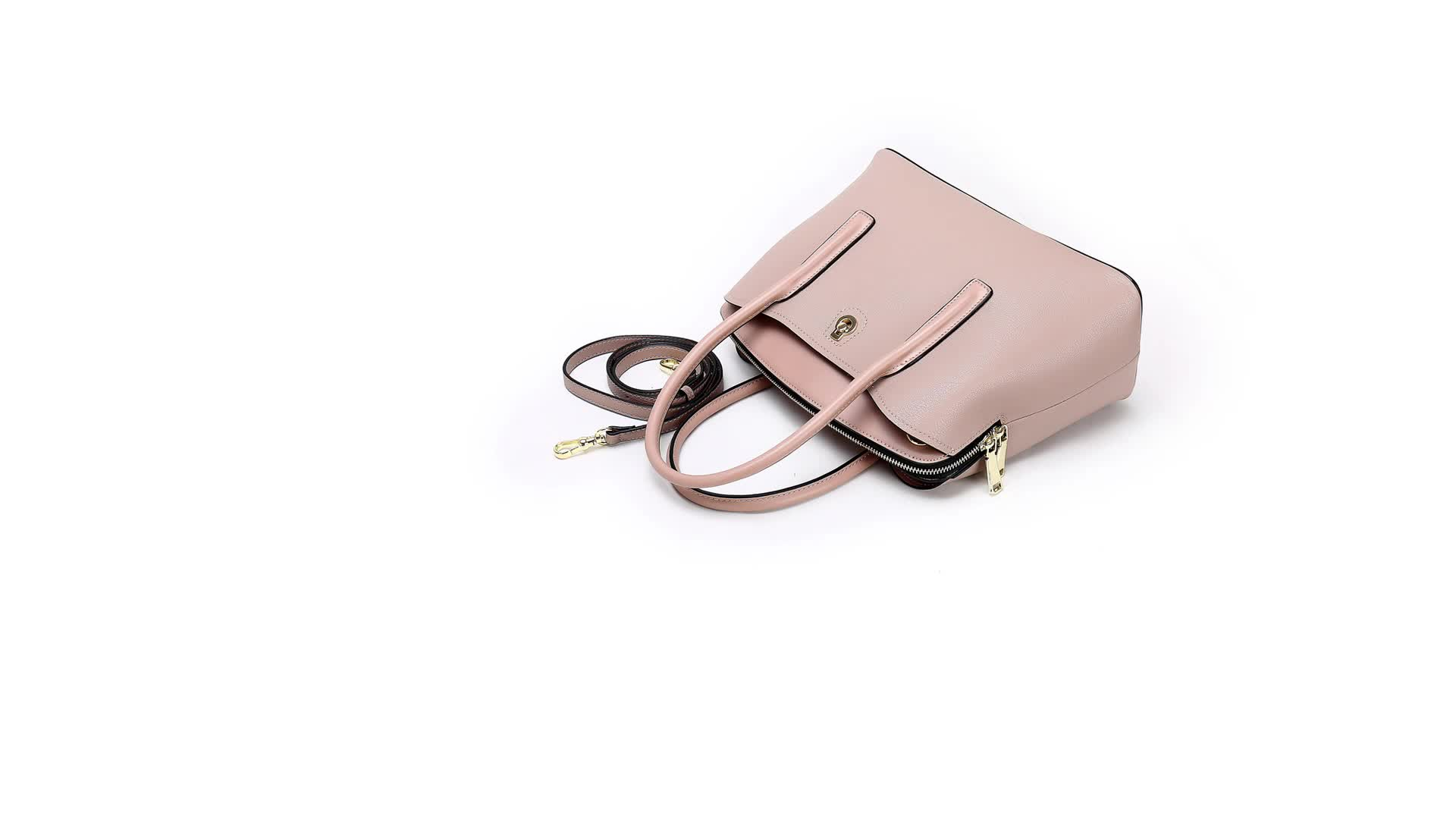 New arrive custom shoulder real leather handbags from China