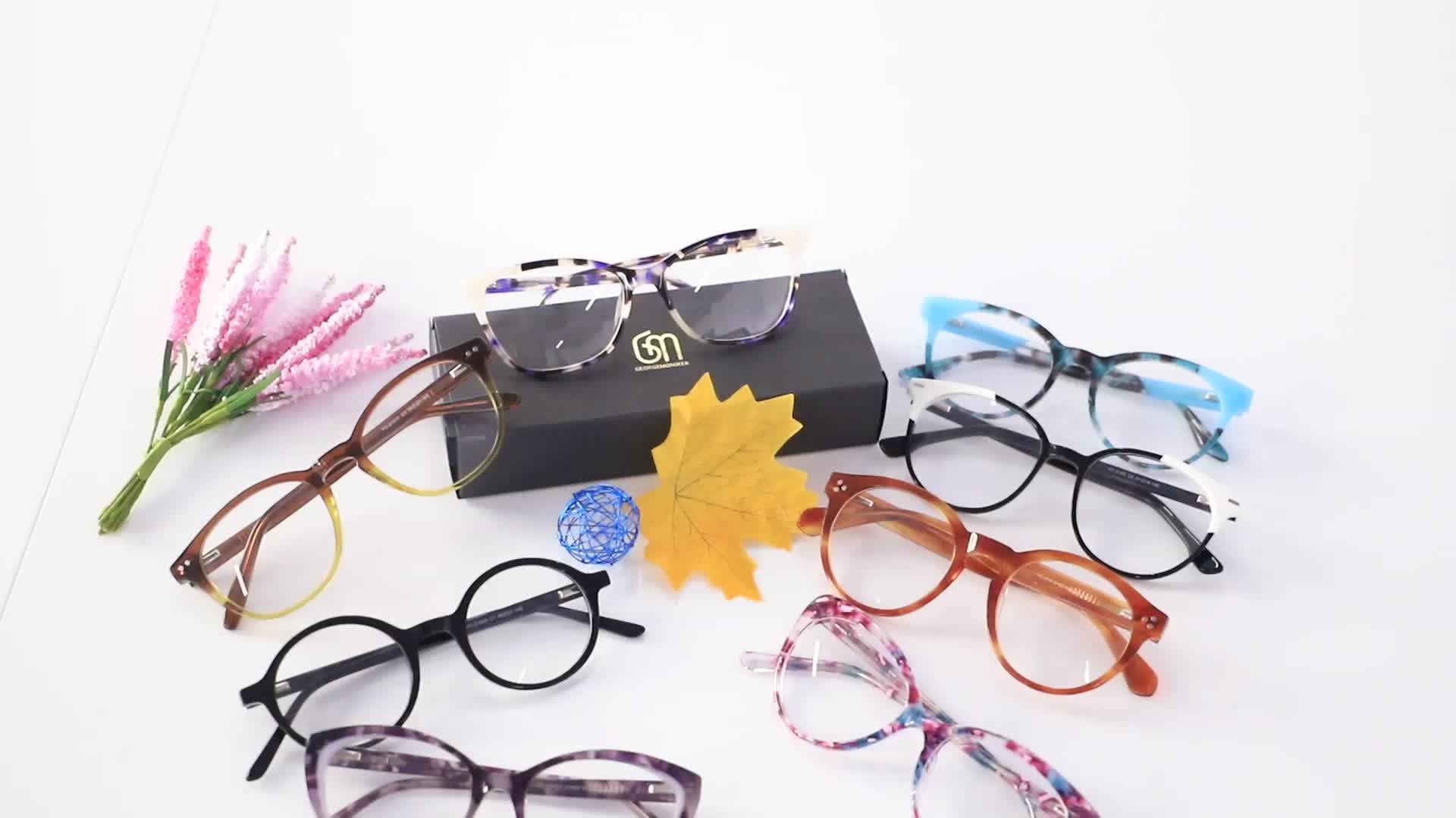 New Design Custom Fashion Popular Unisex Ultra-Thin Acetate Anti Blue Light Danyang Optical Frame Glasses Eyewear