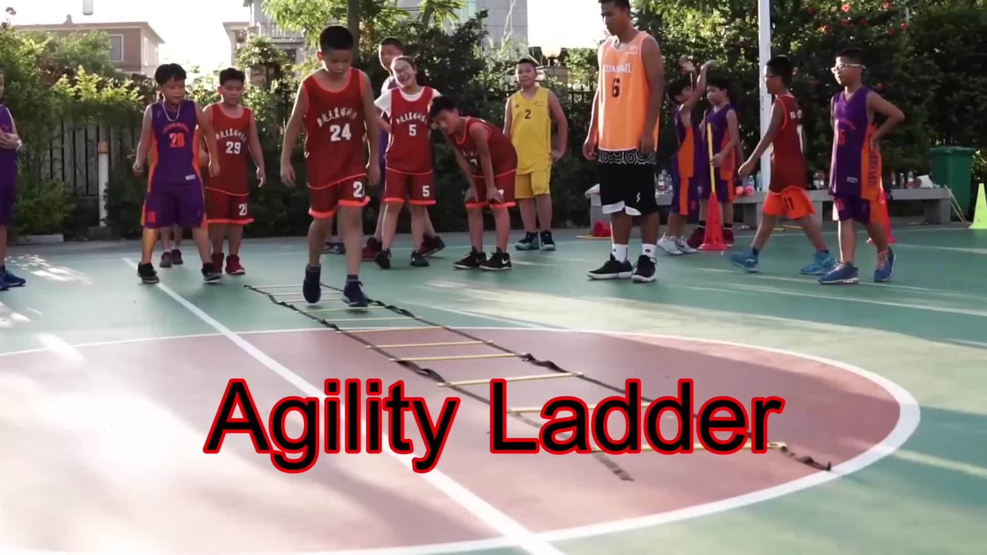 Speed Ladder, Workout Rings Agility Ladder, Football Training Ladder