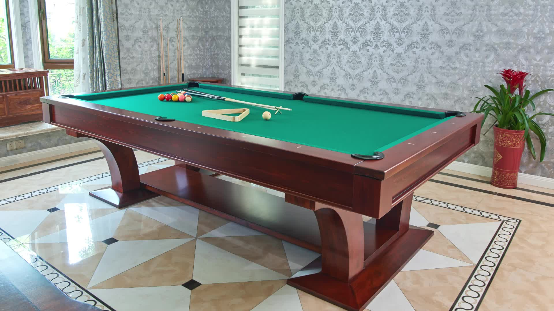 Luxury Dining Pool Table And Dinner Table Combo