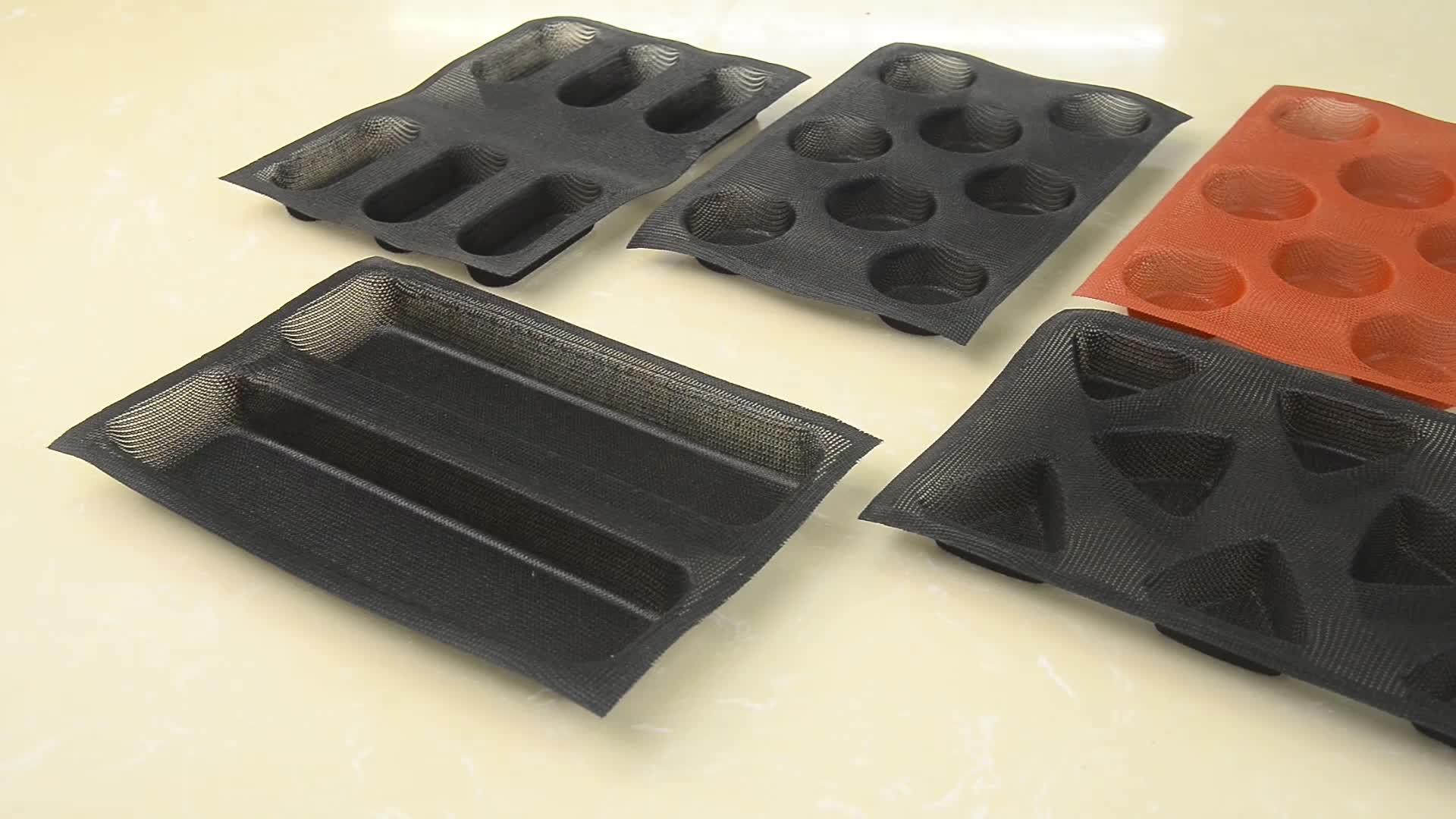 ทรงกลมทาร์ตแม่พิมพ์ 20 ถ้วยซิลิโคนไม่ติดพรุนขนมปังแม่พิมพ์ซิลิโคนมัฟฟินถาด