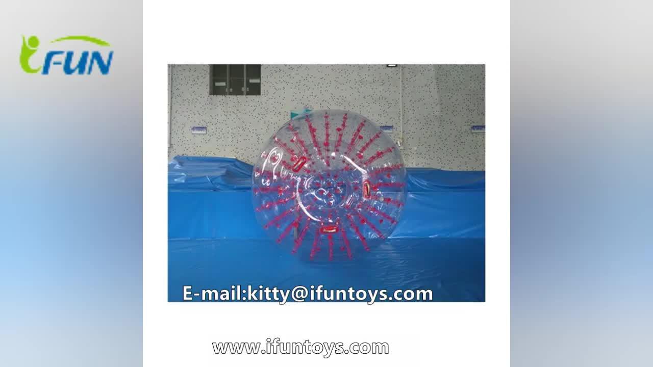 लोकप्रिय आउटडोर खेल inflatable भूमि zorb गेंद घूमना/बर्फ zorbing गेंद रोलिंग गेंद/बच्चों घास zorb गेंदों