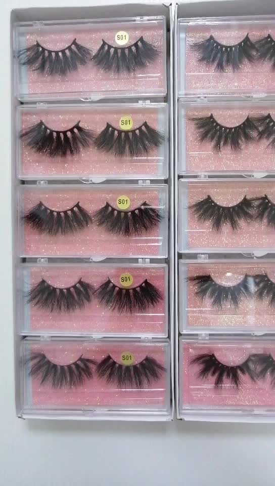Sexy Lady Hair 25mm Mink lashes 5D 25mm Siberian Mink Fluffy Lashes Long Dramatic 25mm Mink Eyelashes