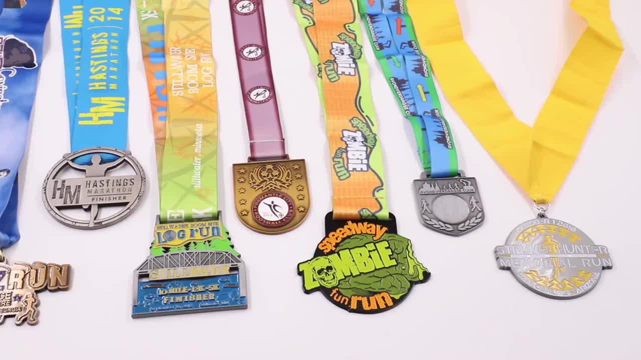 wholesale custom zinc alloy die casting buy medal with ribbon