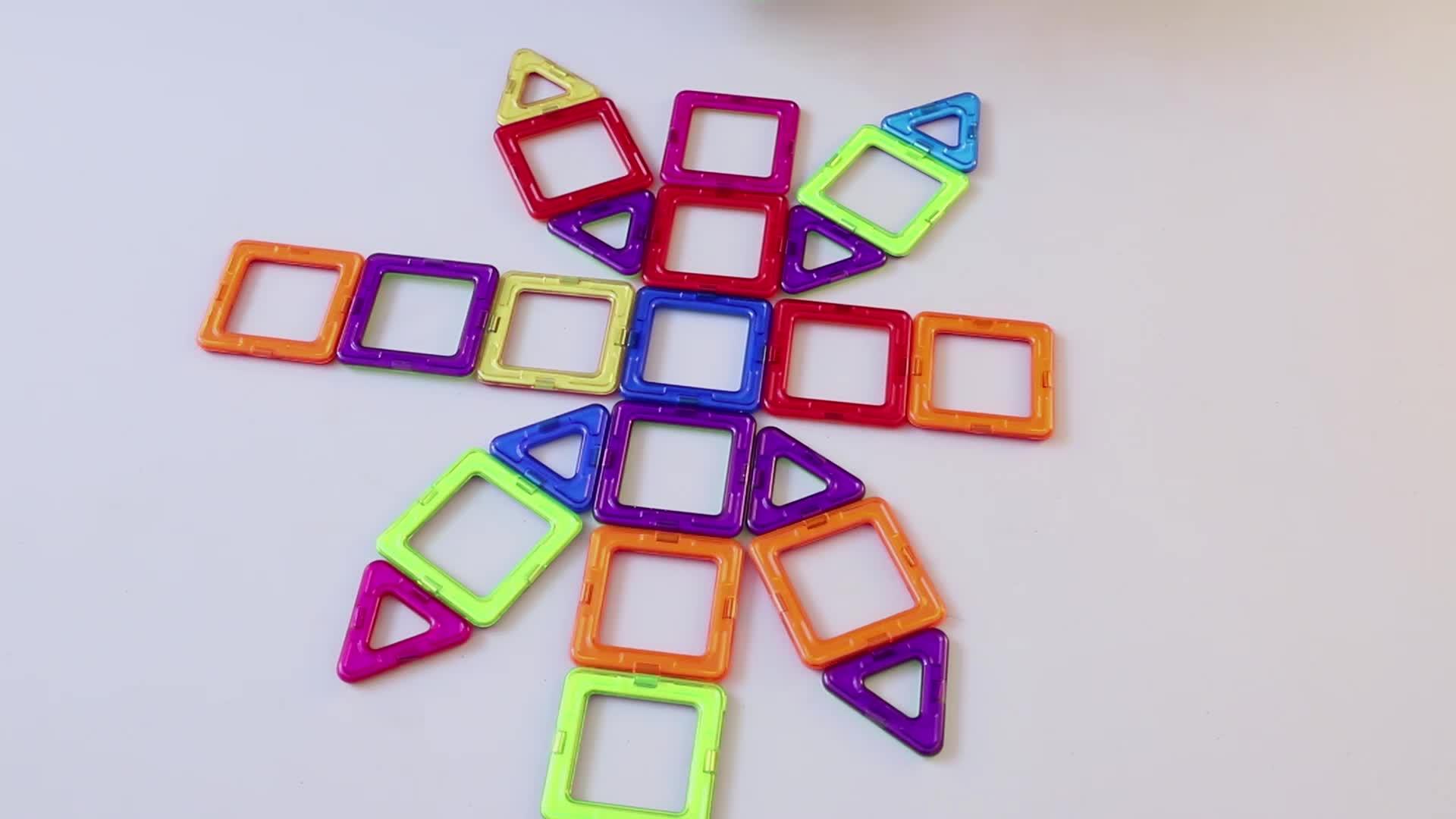 Custom 102pcs classic magnetic building blocks creative construction toy safe ABS plastic building blocks toys for kids