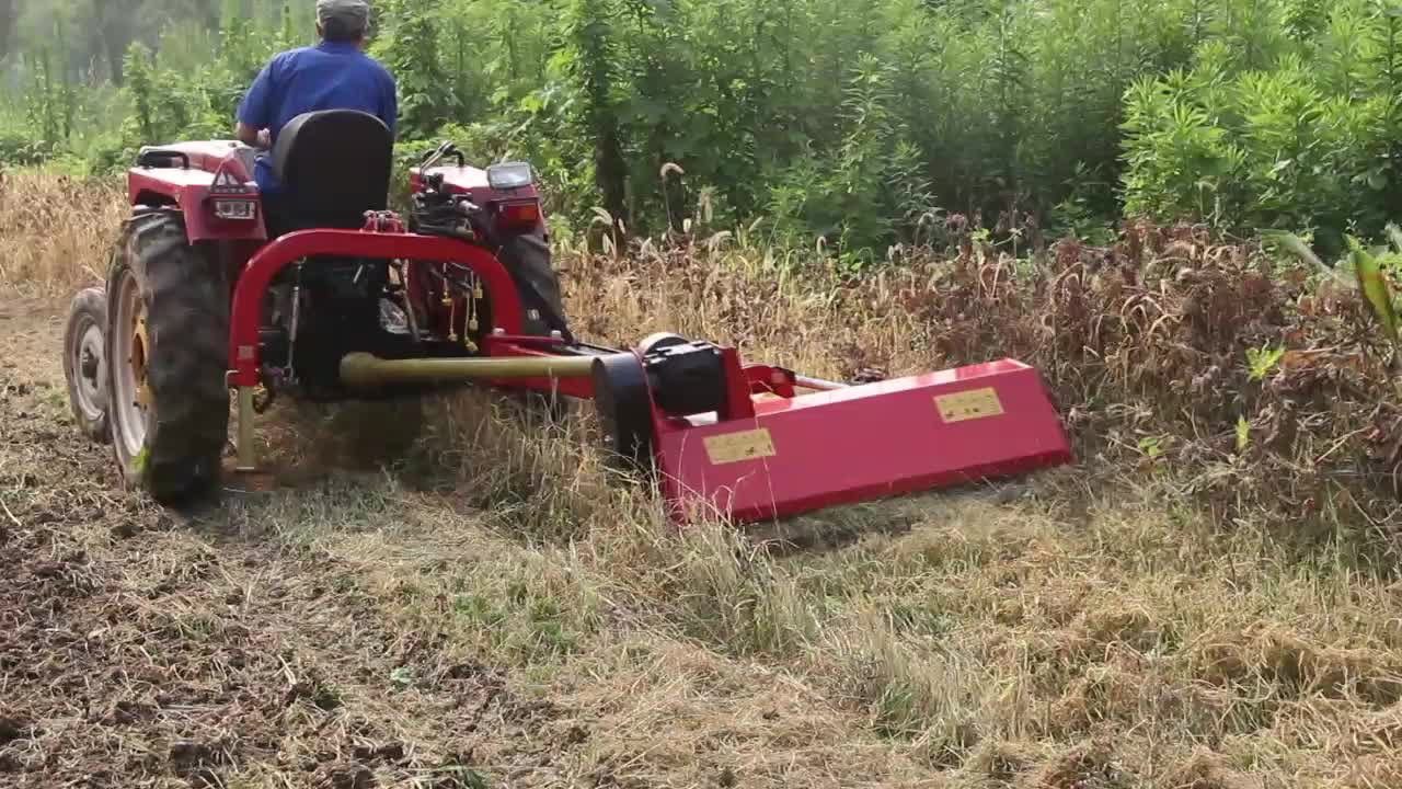 China 15-55hp Farm Machinery Small Tractor Side 3 Point Pto Hydraulic Verge  Mulcher Flail Mower - Buy Flail Mower,Verge Mower,Tractor Mower Product on