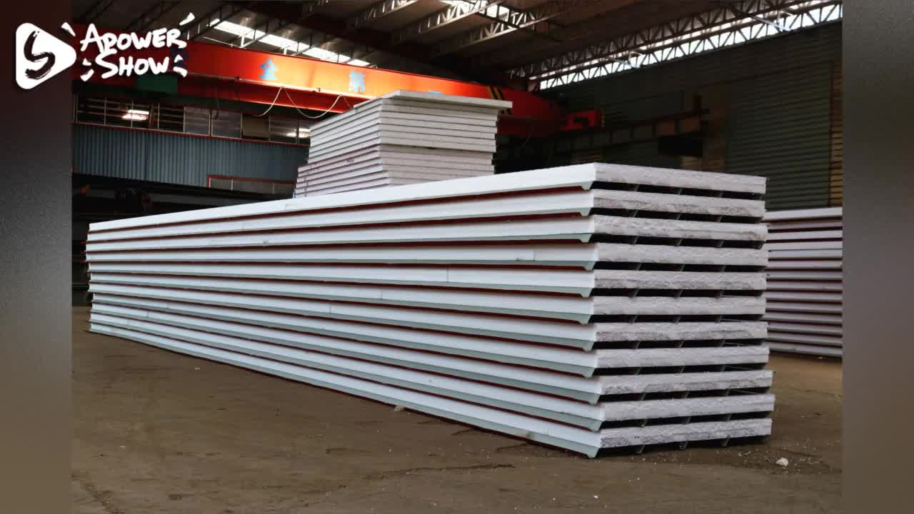 High quality EPS sandwich panel/polystyrene foam core/roof/wall  paneles sandwich for prefab house  low price exterior