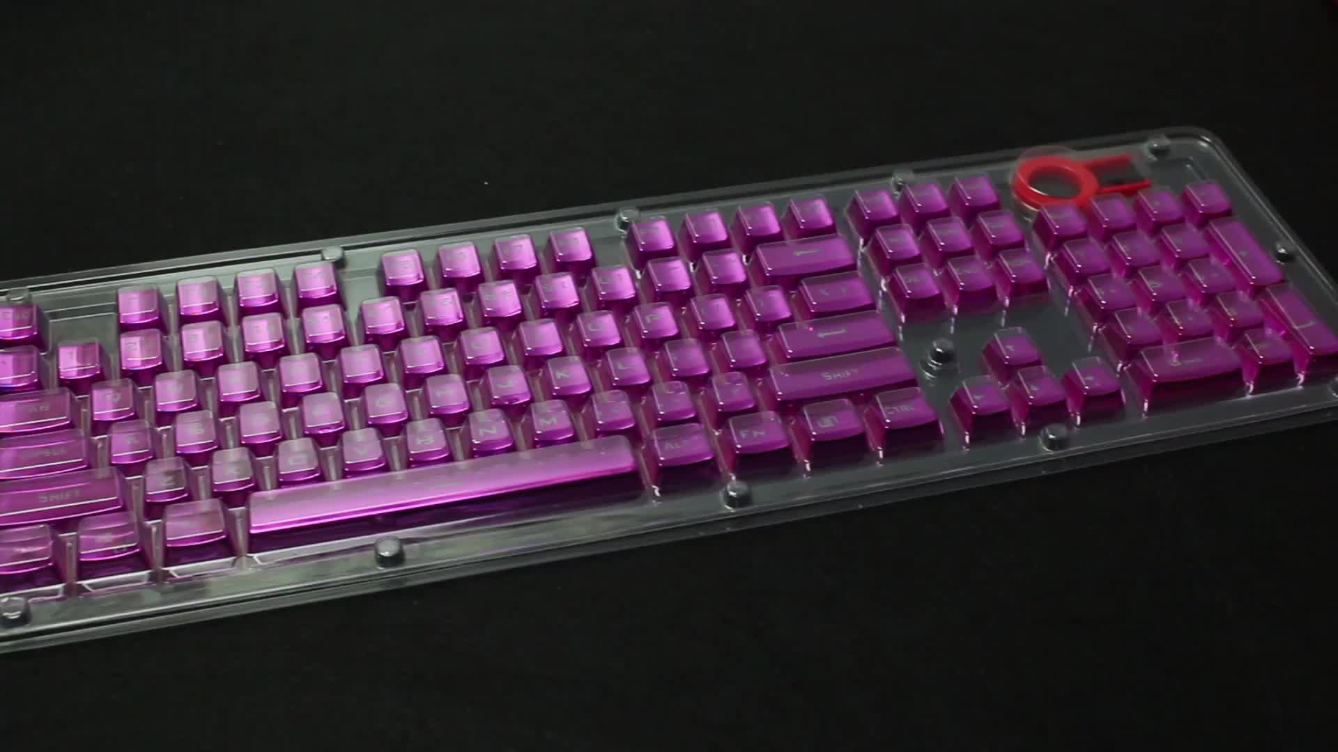 High Quality Multicolor PBT 104 keys Mechanical Gaming Keycaps For Gamer Game Computer Accessories