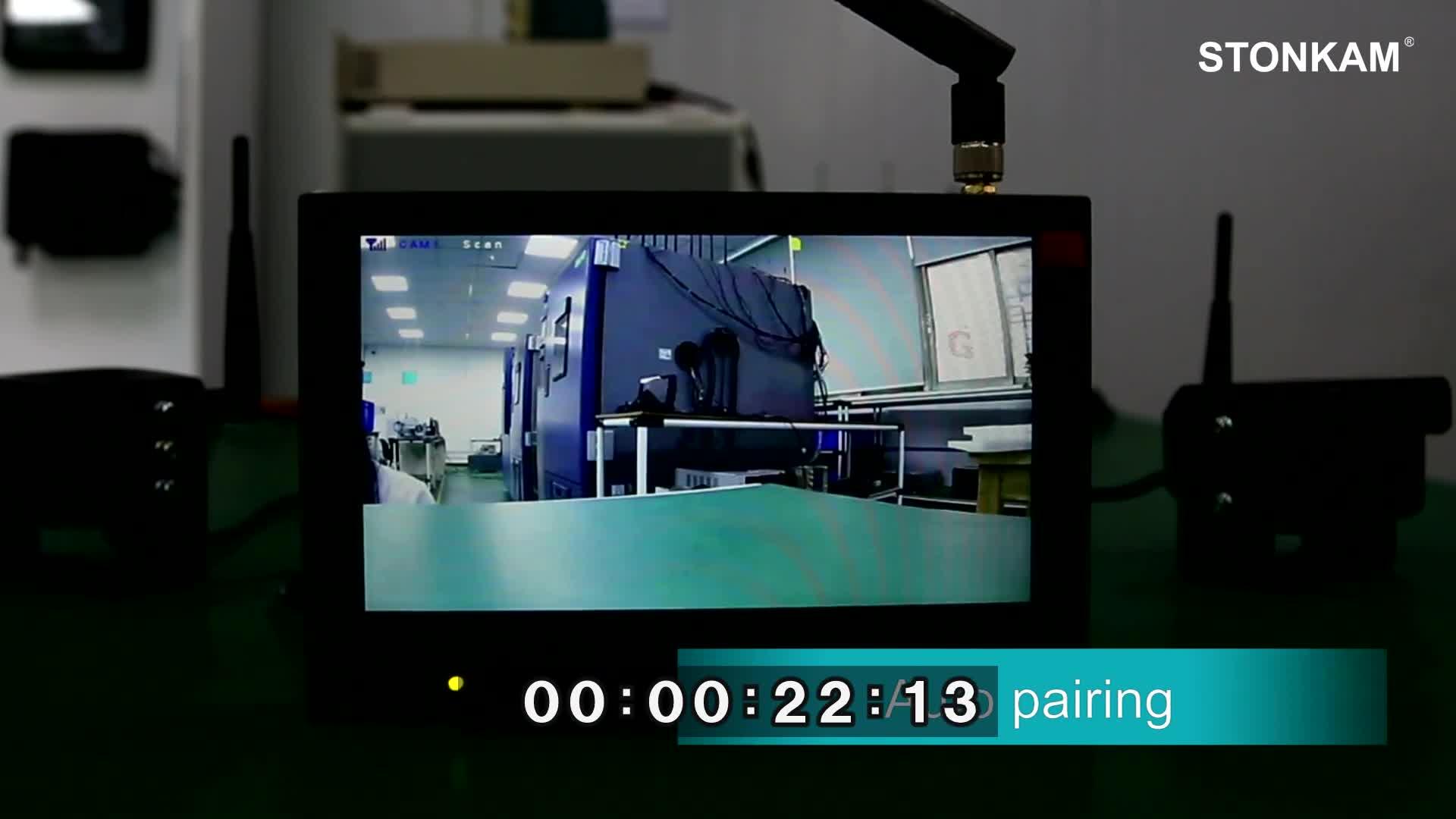 2.4 2.4ghz 720 1080P デジタルワイヤレスバックアップカメラシステム