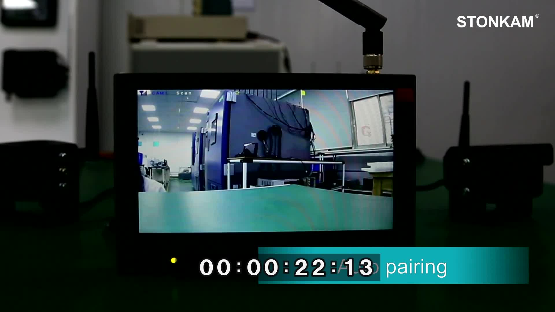 720 1080p 7 インチデジタルワイヤレス逆カメラトラック