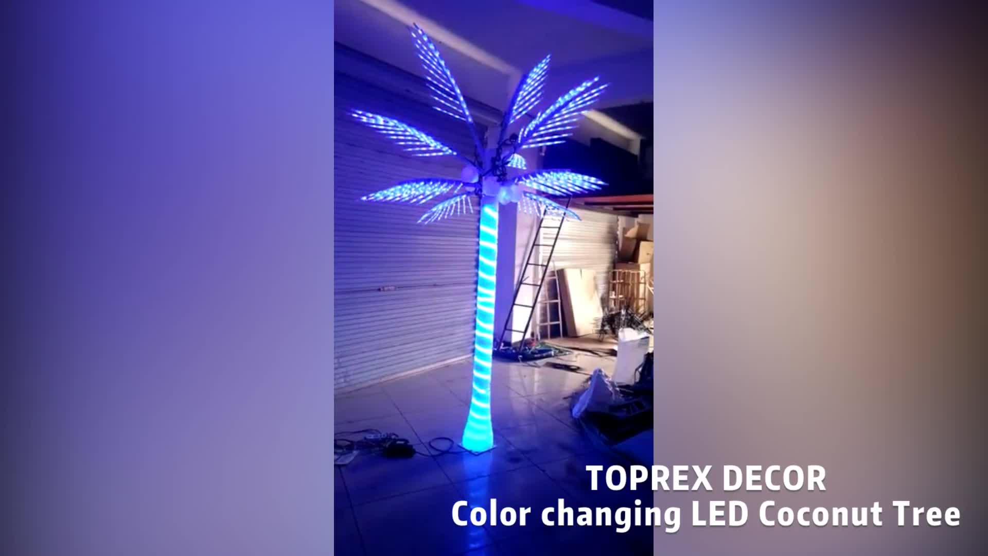 Toprex Dekor led noel yapay led hindistan cevizi palmiye ağacı ışık