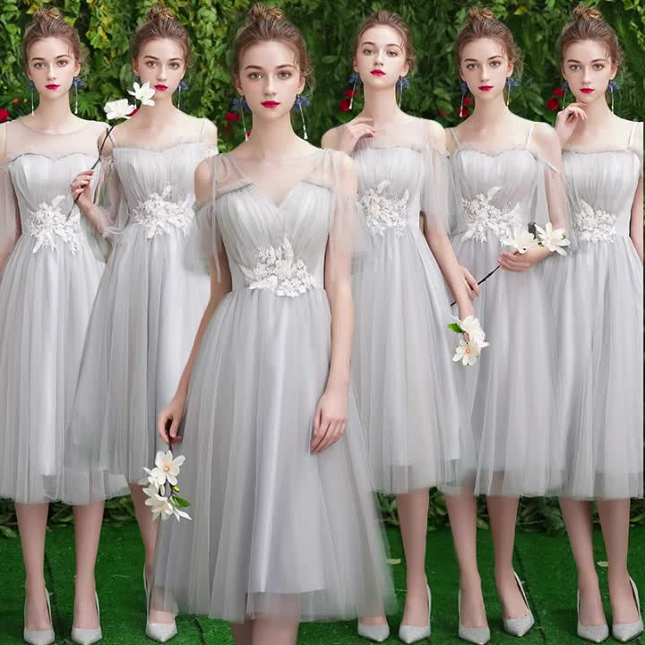 2019 new style medium style bridesmaid dresses lady party dress