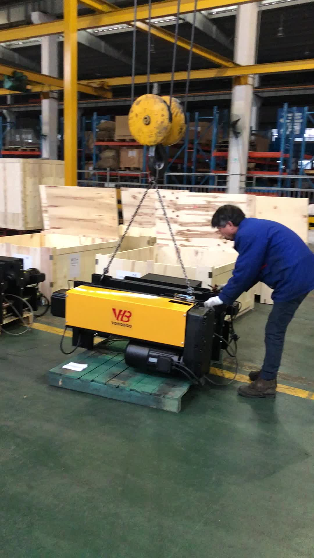 380V 50HZ 3phase Material handling Tools European Electric Wire Rope Hoist for Lifting