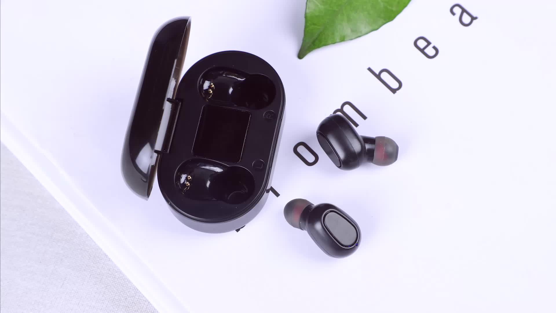 Freies Verschiffen TOPK TWS Drahtlose Bluetooth 5,0 Kopfhörer Ohrhörer Stereo Kopfhörer Freihändig in Ohr Telefon Headset
