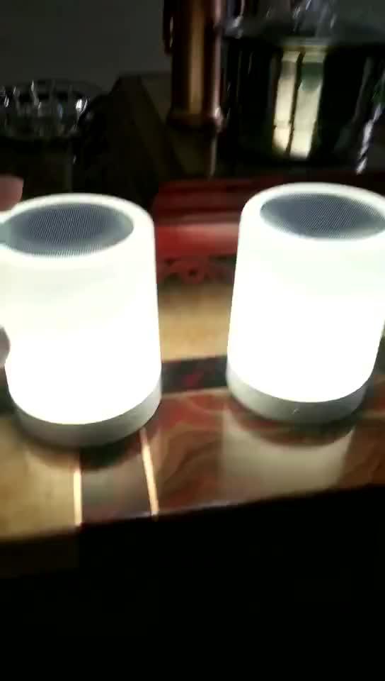 Caldo 7 luci di colore LED lampada da tavolo di tocco altoparlanti con FM radio BT quran Altoparlante Senza Fili Casa intelligente