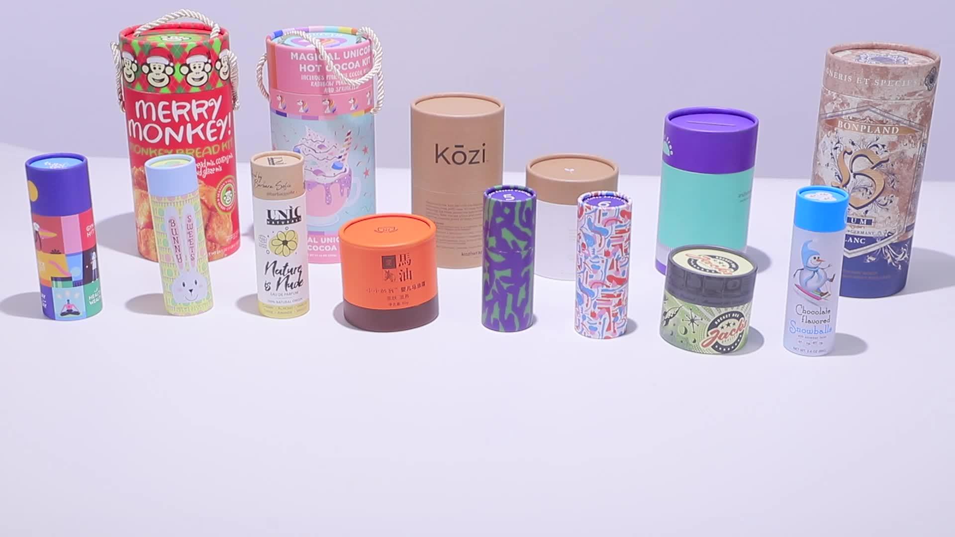 Costume Impresso Caixa Cilíndrica Caixas cilindricas cajas de caixa