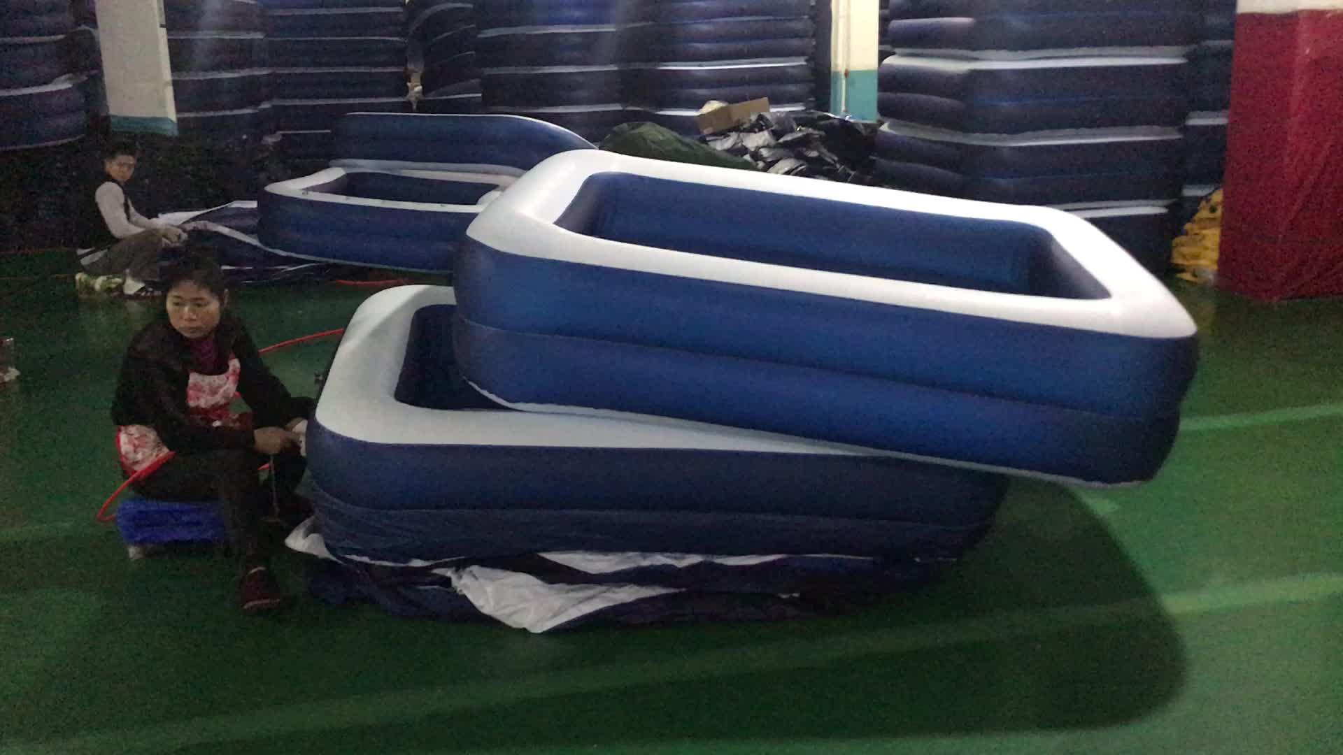 Umweltfreundliche hochfestem kunststoff aufblasbaren badewanne für erwachsene klapp bewegliche aufblasbare whirlpool