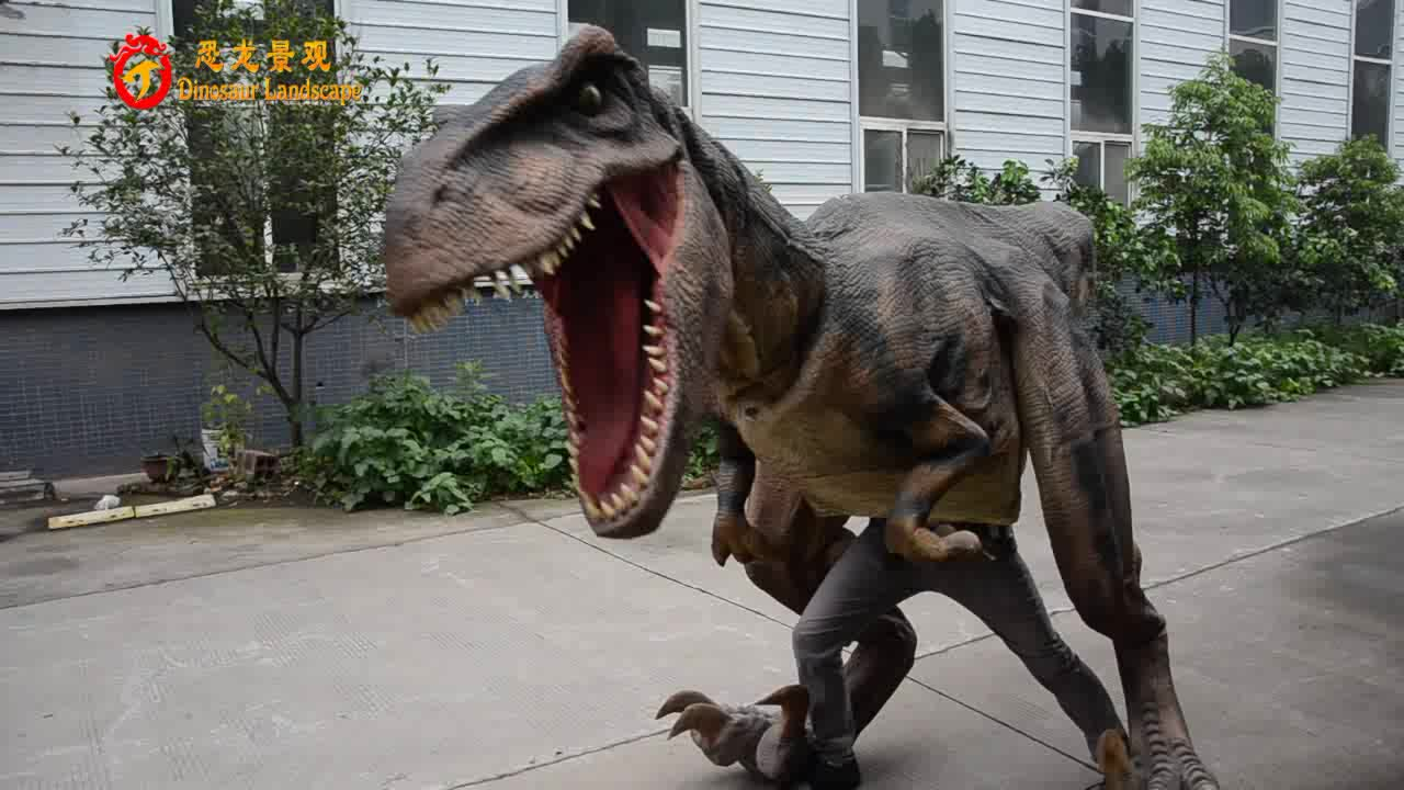 factory high quality adults walking animatronic realistic dinosaur