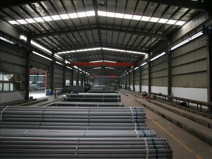 أنابيب بناء فولاذية مجلفنة أنابيب فولاذية ملحومة بالمقاومة الكهربائية والأنابيب