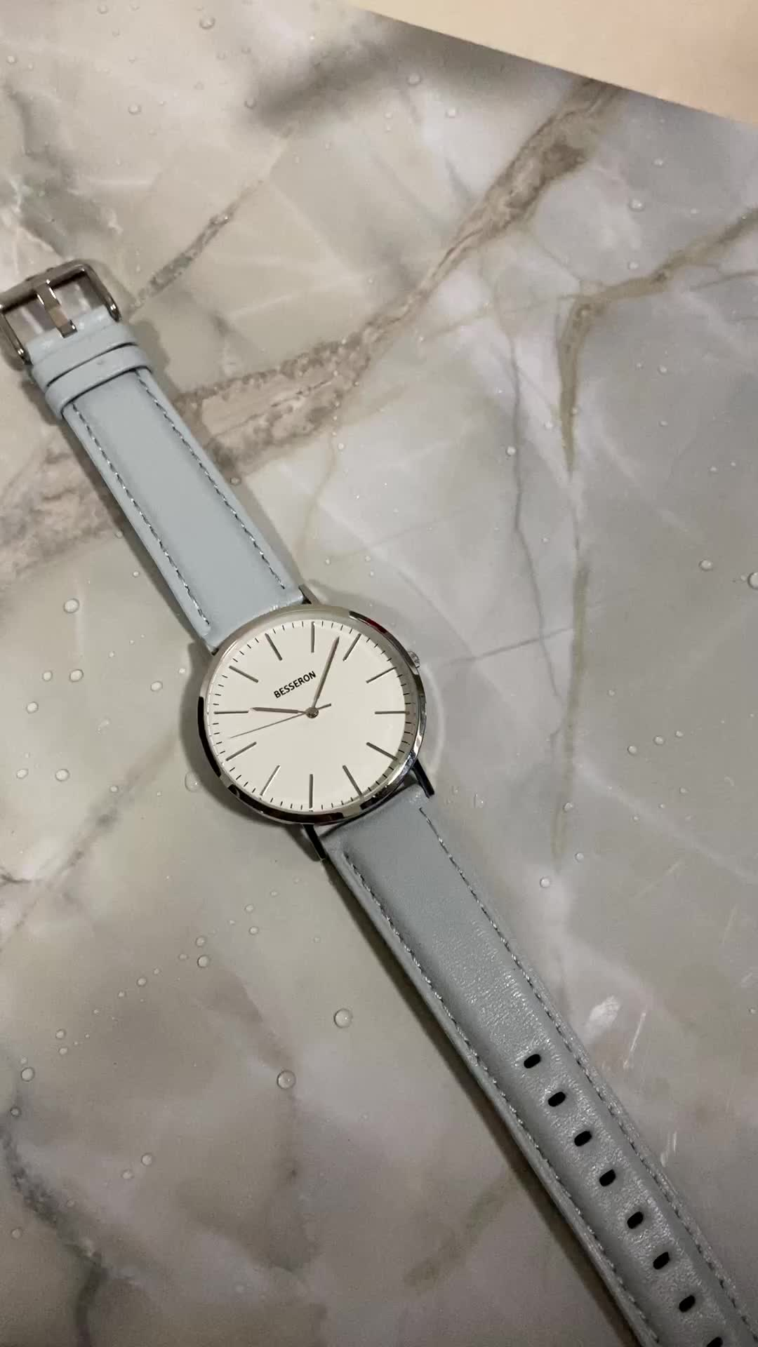 Relógios de marca o seu próprio azul marca relógios homens relógios homem simples relógio de mão de malha
