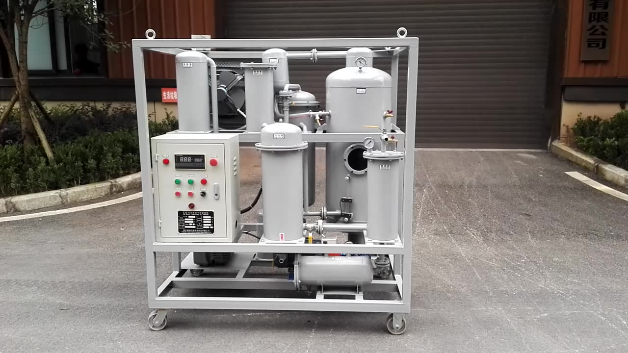 2020 Hot Sale  high quality oil recycling machine used hydraulic oil filtration system