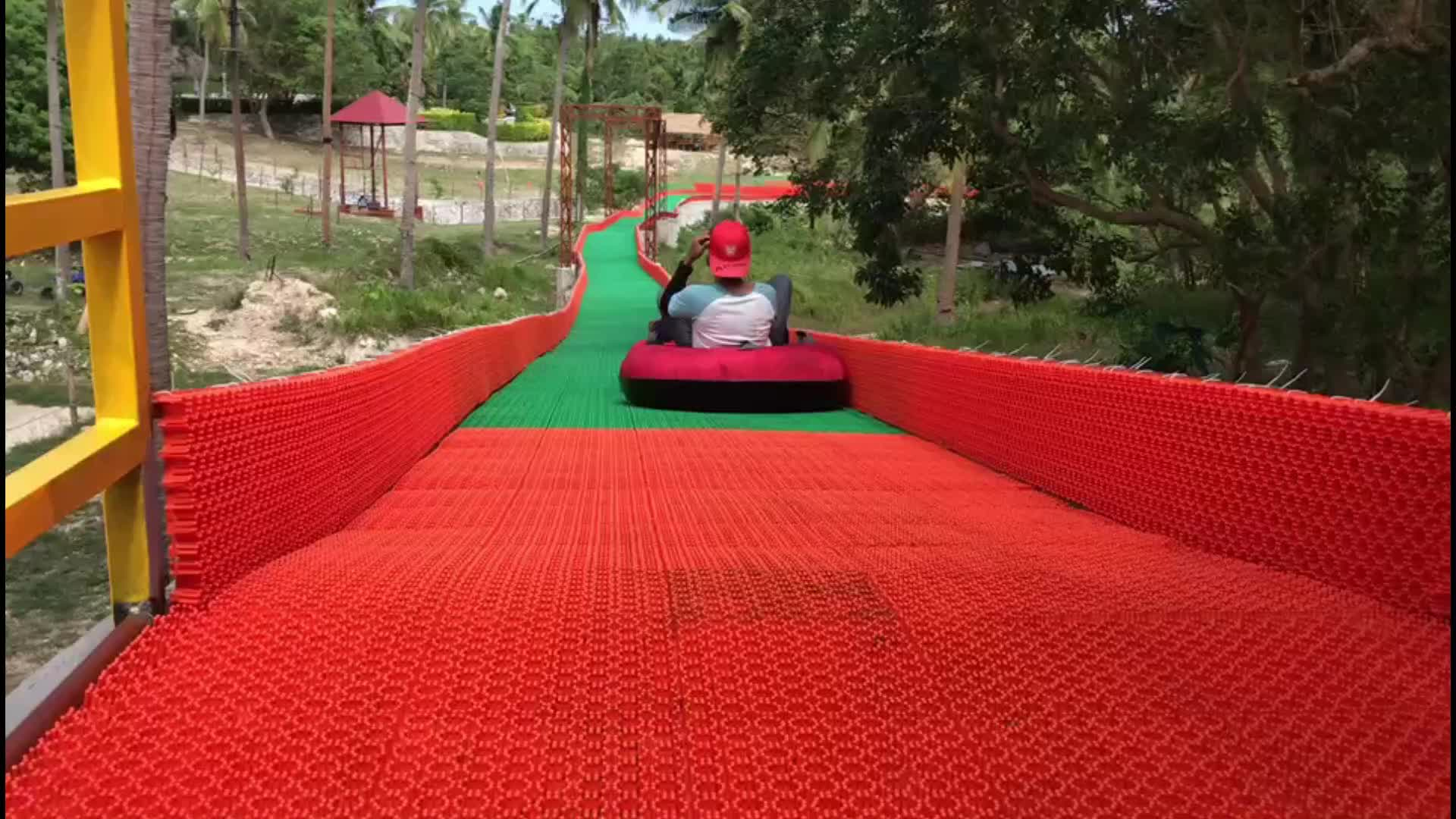 Thickness 35mm Artificial Dry Ski Mat For Entertainment