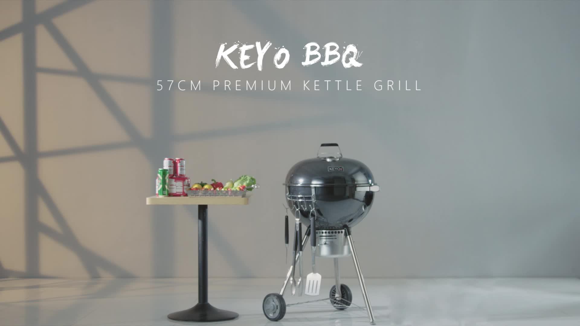 2019 वेबर गर्म बेच काले वेबर केतली लकड़ी का कोयला बारबेक्यू BBQ Grills