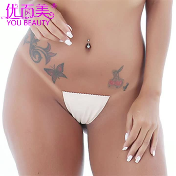 Sexy Thong Girls Seamless Panties Silicone T-Back Panty For Women