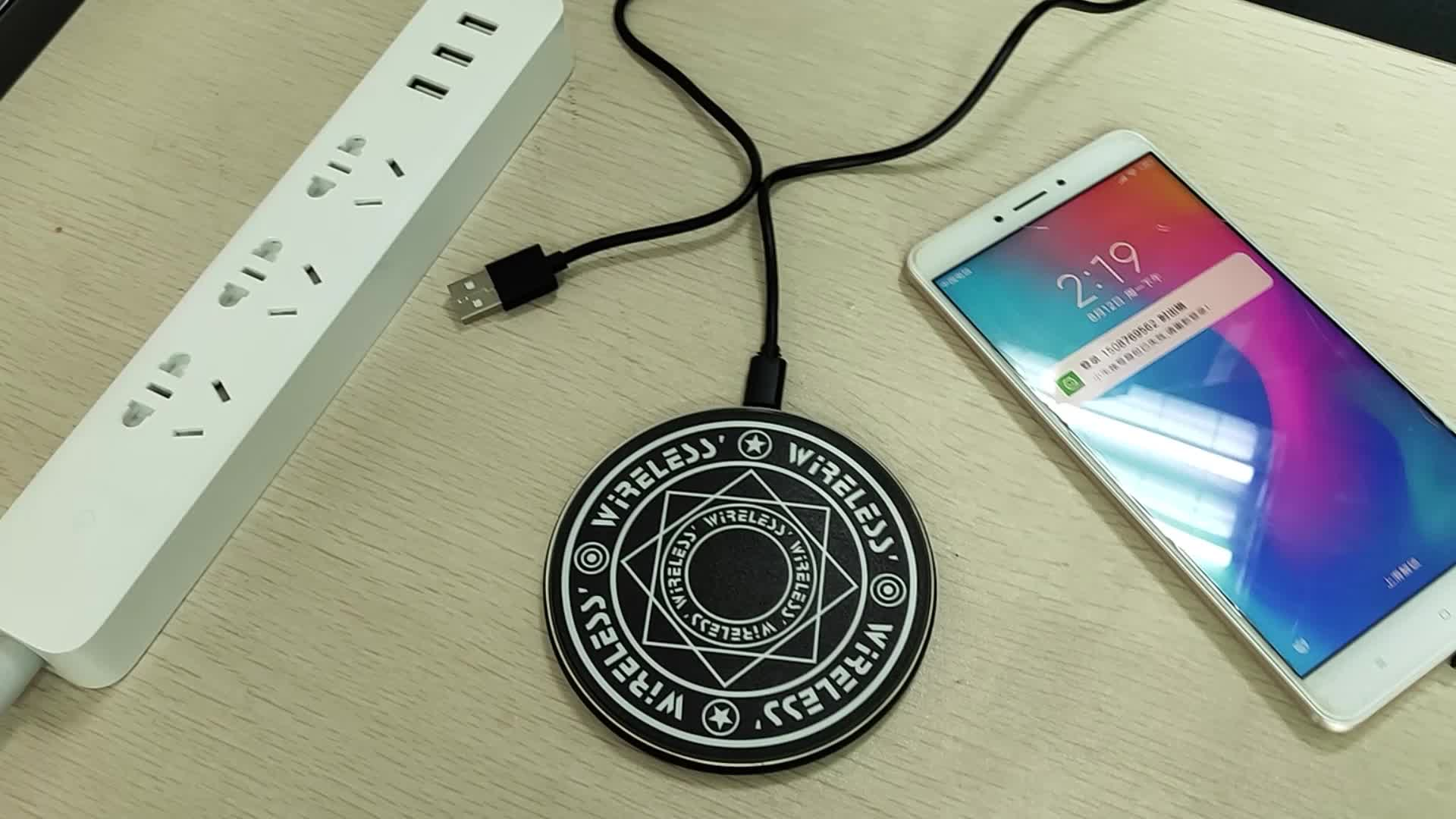 10w Qi Fast Ultra Slim Magic Array Wireless Charger Pad For All Qi-enabled Phones