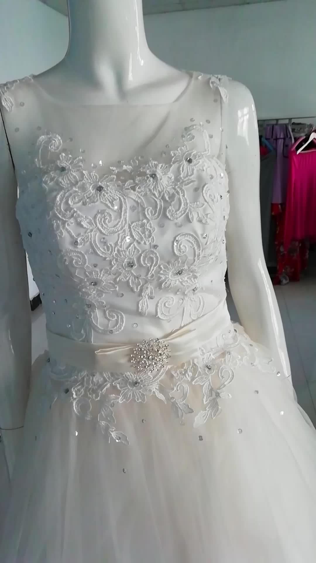 Ywhola Vintage Sleeveless Bow Long Tail Bridal Gowns Customized Size Wedding Dresses