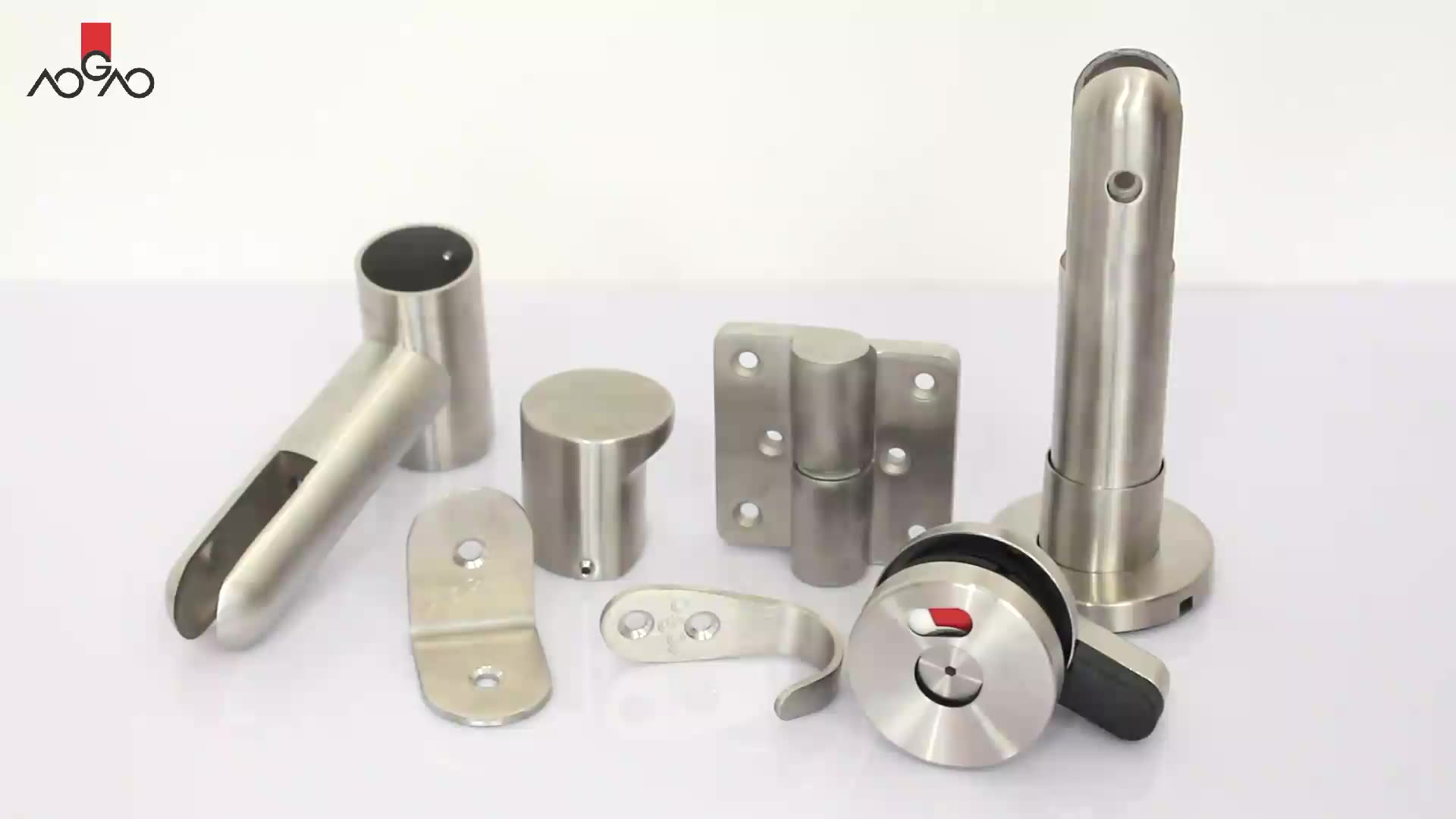 AOGAO Popular Combined Stainless Steel Toilet Cubicle Hardware Accessories Manufacturer