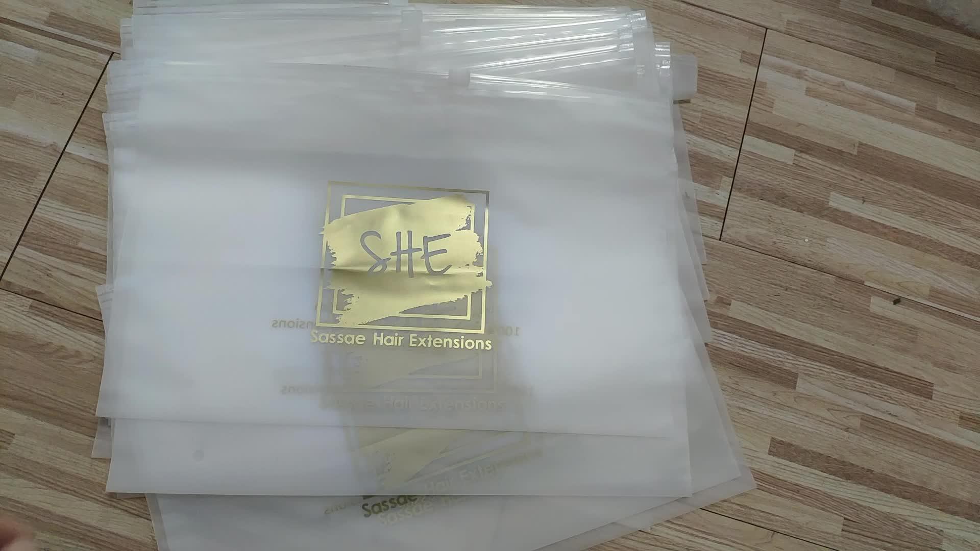 Có Thể Tháo Rời Tùy Chỉnh Tự Khóa Kéo Bao Bì Trang Phục Nhựa Frosted Slider Bag, Top Chất Lượng OPP PVC Túi Nhựa Cho Quần Áo