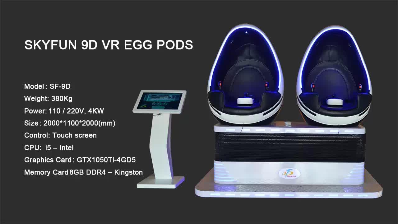 Skyfun kunstmatige en nieuwe dinosaurus ei stoel 9D VR cinema simulator elektrische motion rit thema video met beste dier films