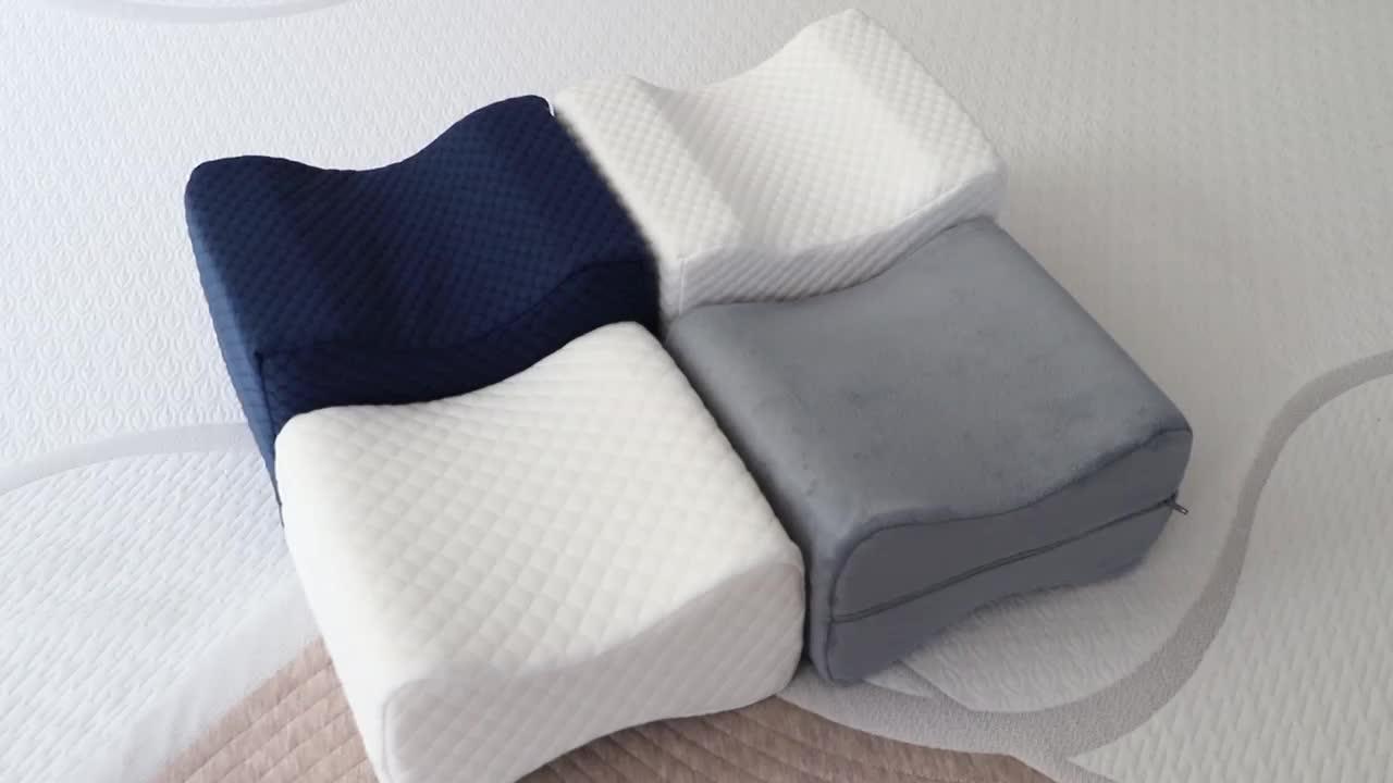 半月枕用于侧面,背部,用于坐骨神经痛缓解的胃枕支撑枕头, 腿疼痛与可洗盖