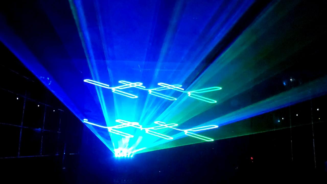 DMXควบคุมรูปแบบClub Rgb 2Wสีเลเซอร์แสดงDj Light