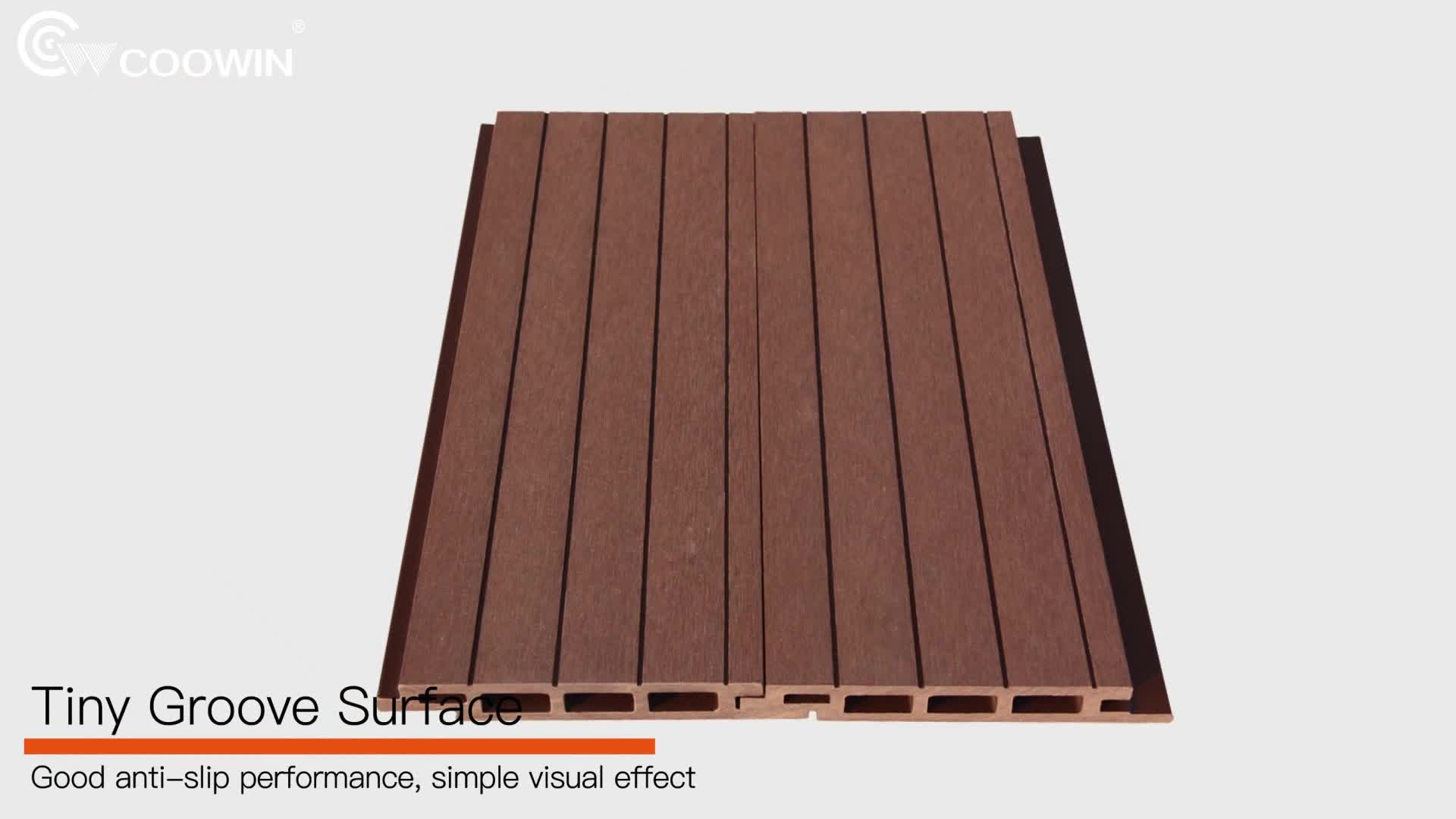 Anti-mildew Wood Plastic Composite Wall Panel Cladding