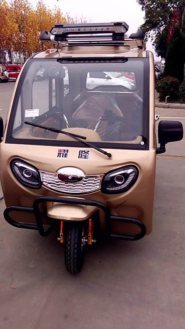 Yaolon benzinli trike üç tekerlekli bisiklet kapalı römork araba motosiklet üç tekerlekli bisiklet