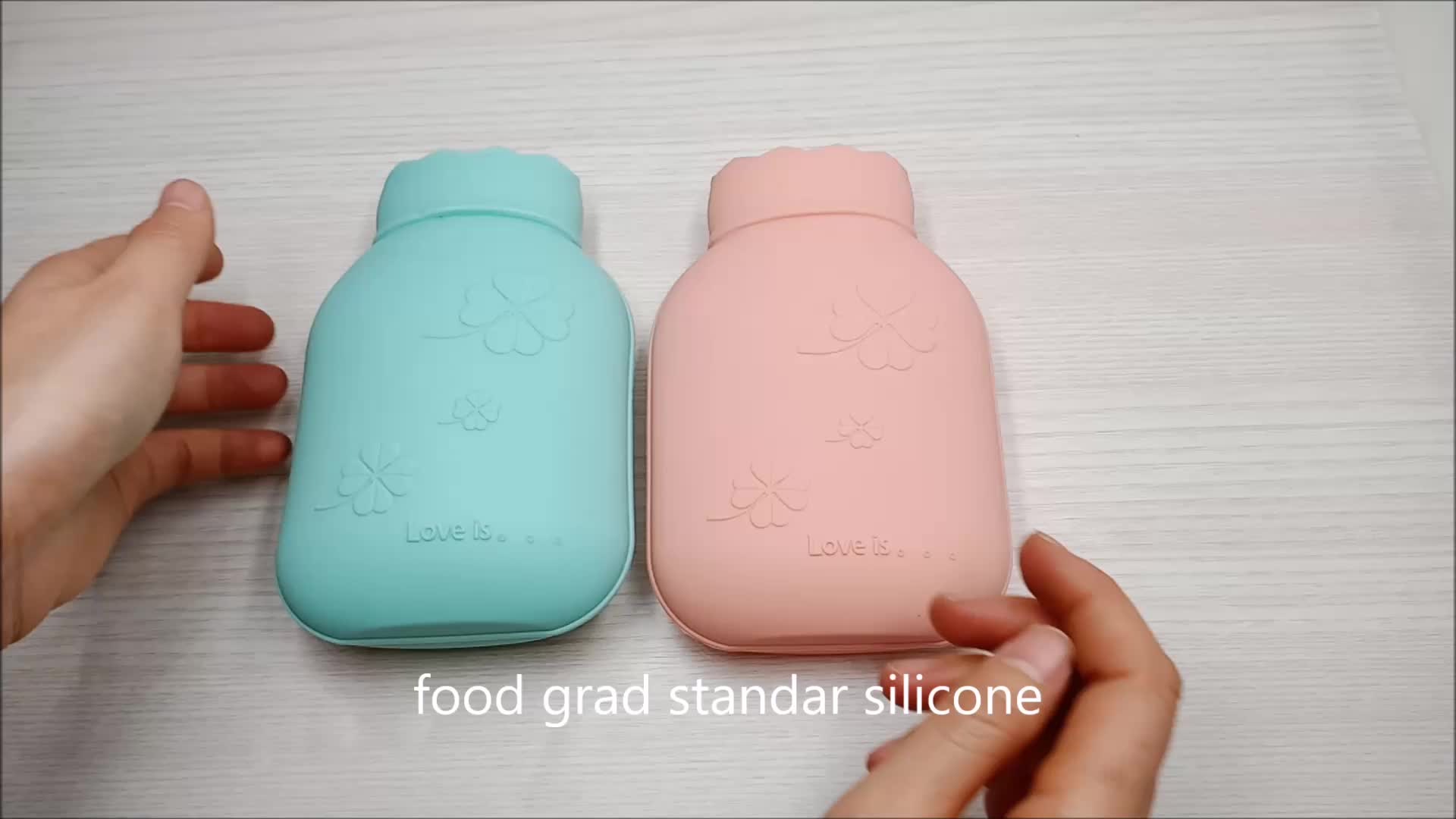 Silicone Microwave Heating cover hot Warm Water bag