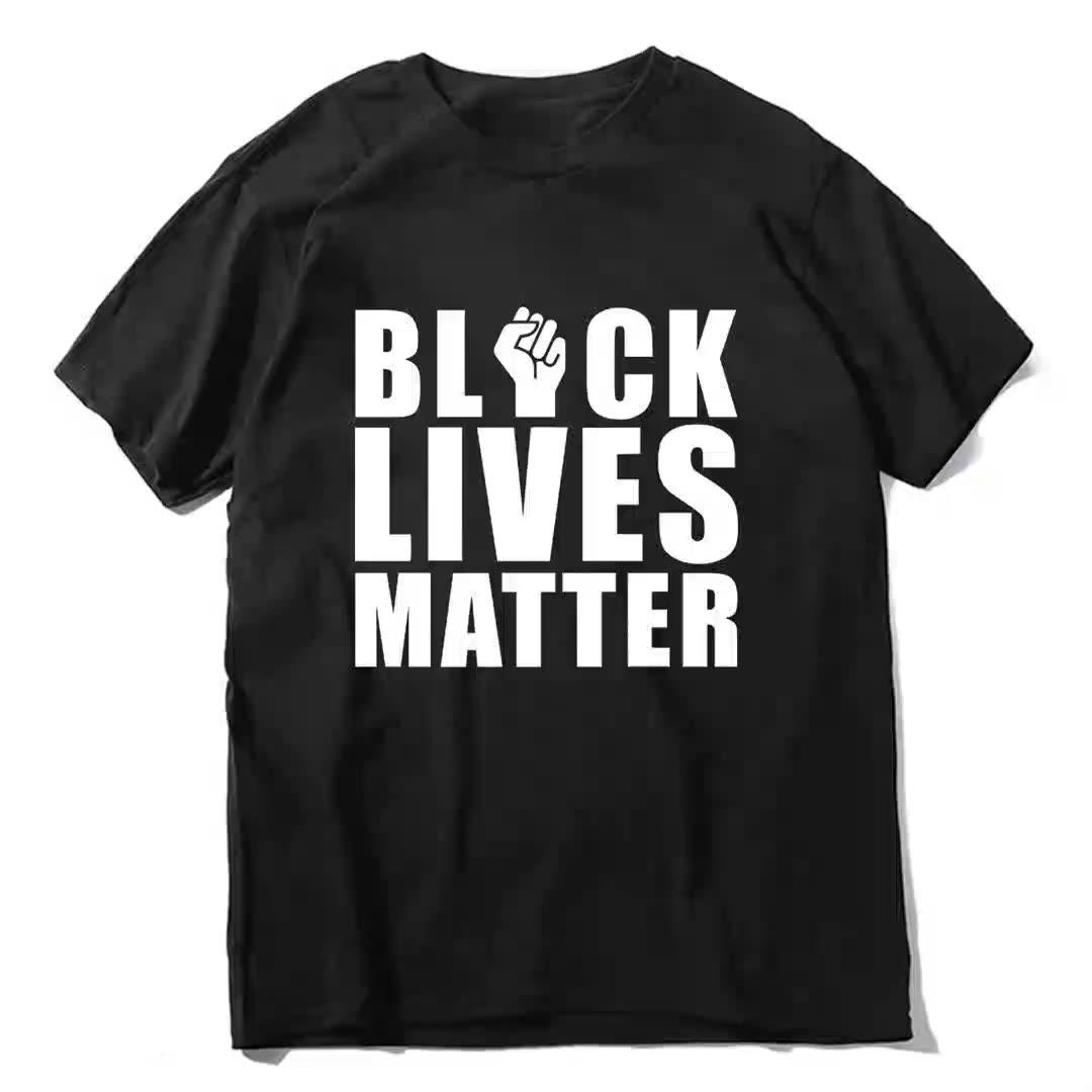"OEM/ODM Customized "" BLACK LIVES MATTER"" American protest T-shirt Anti-violence law enforcement T-shirt"