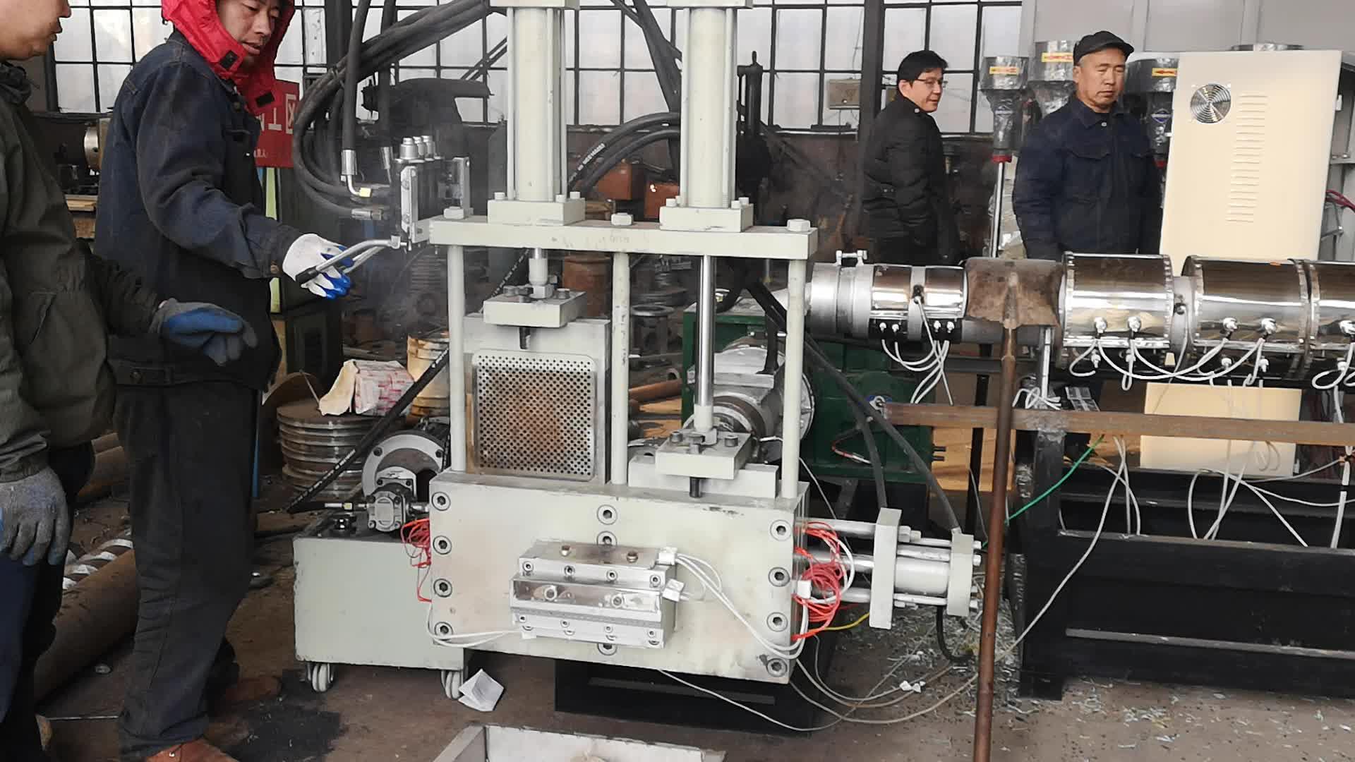 Pelet makinesi geri dönüşüm plastik/plastik geri dönüşüm granüle hattı/plastik granül yapma makinesi fiyat